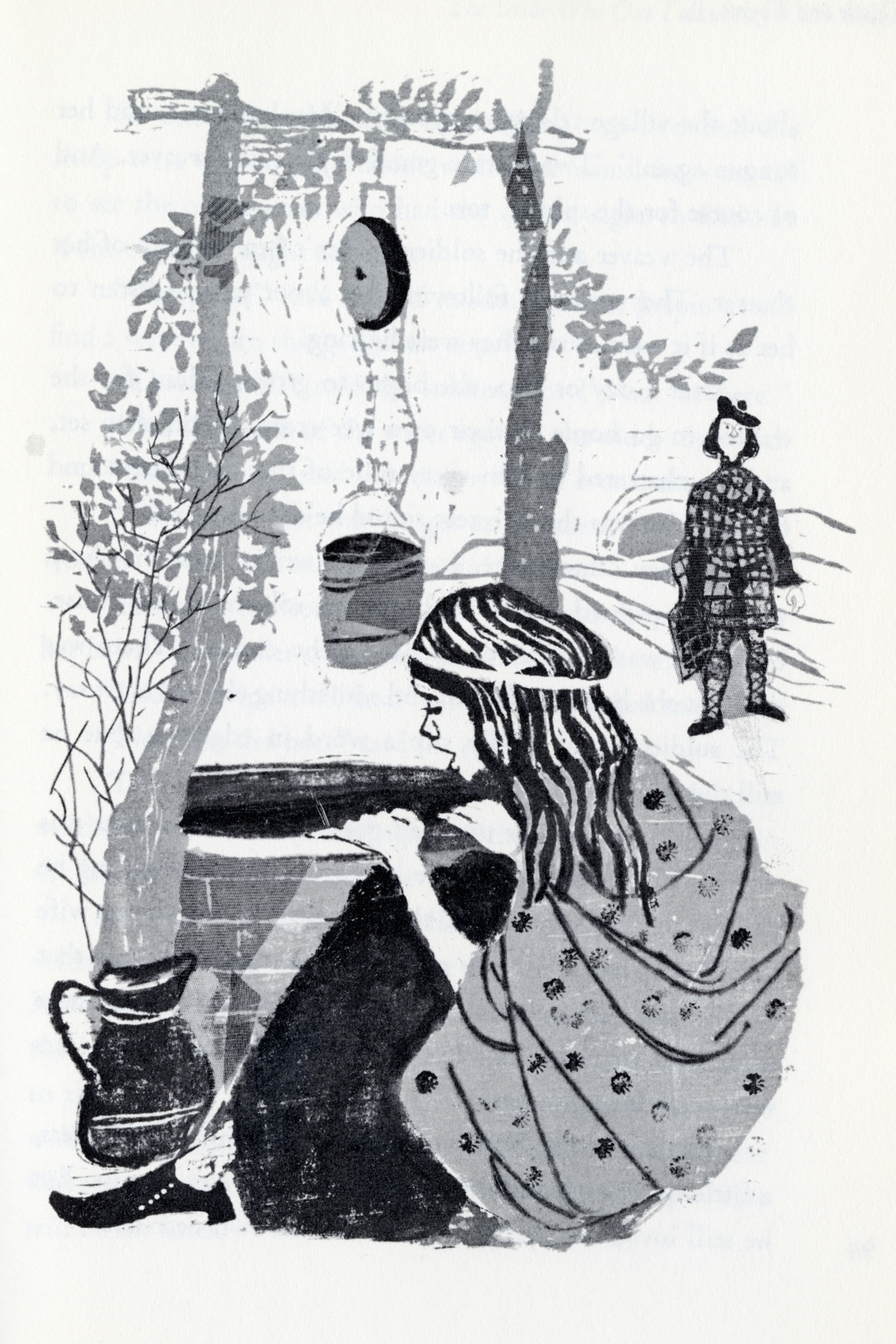 Evaline Ness, illustration from  Thistle and Thyme: Tales and Legends from Scotland .