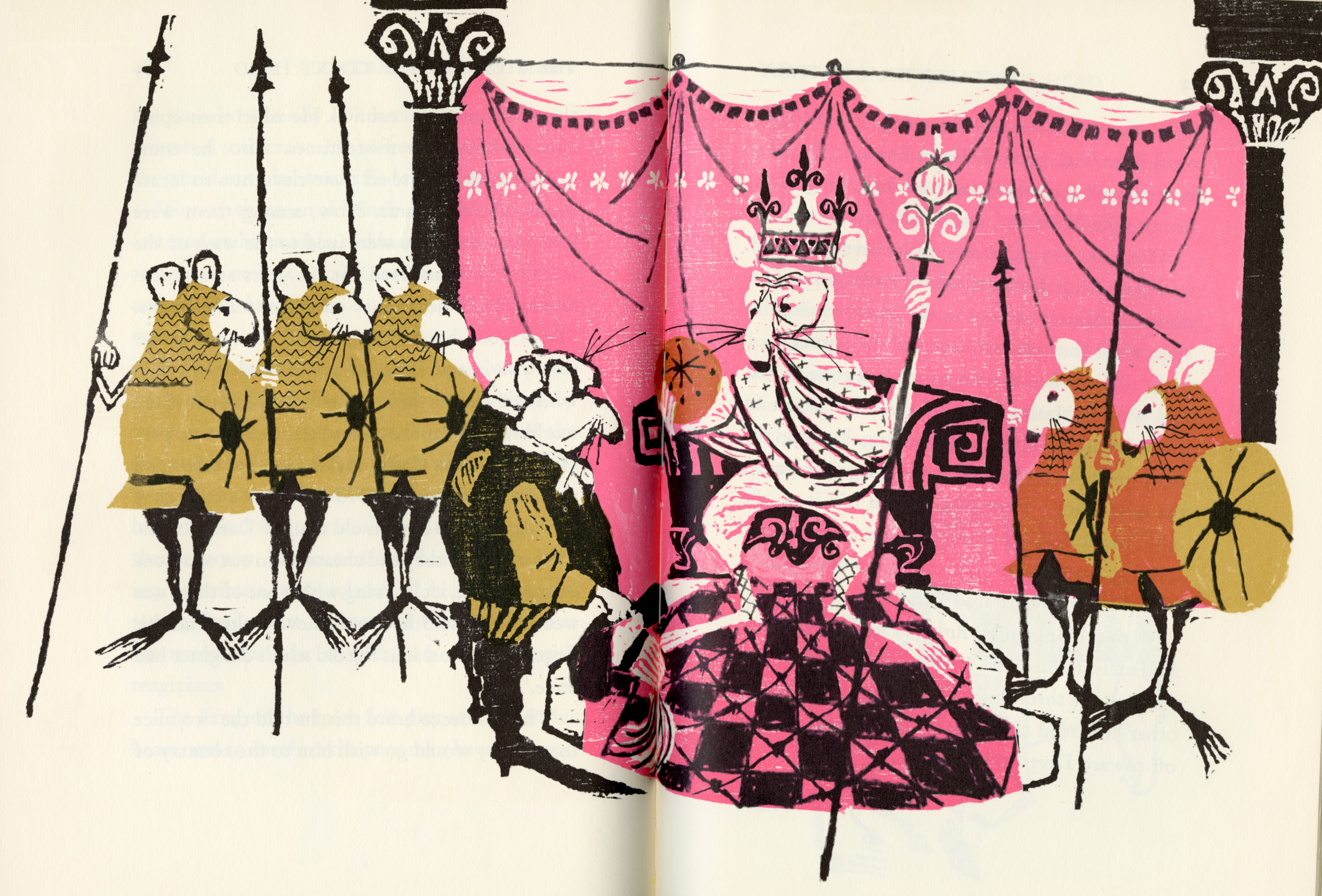 Evaline Ness, spread from  Favorite Fairy Tales Told in Italy . 1965