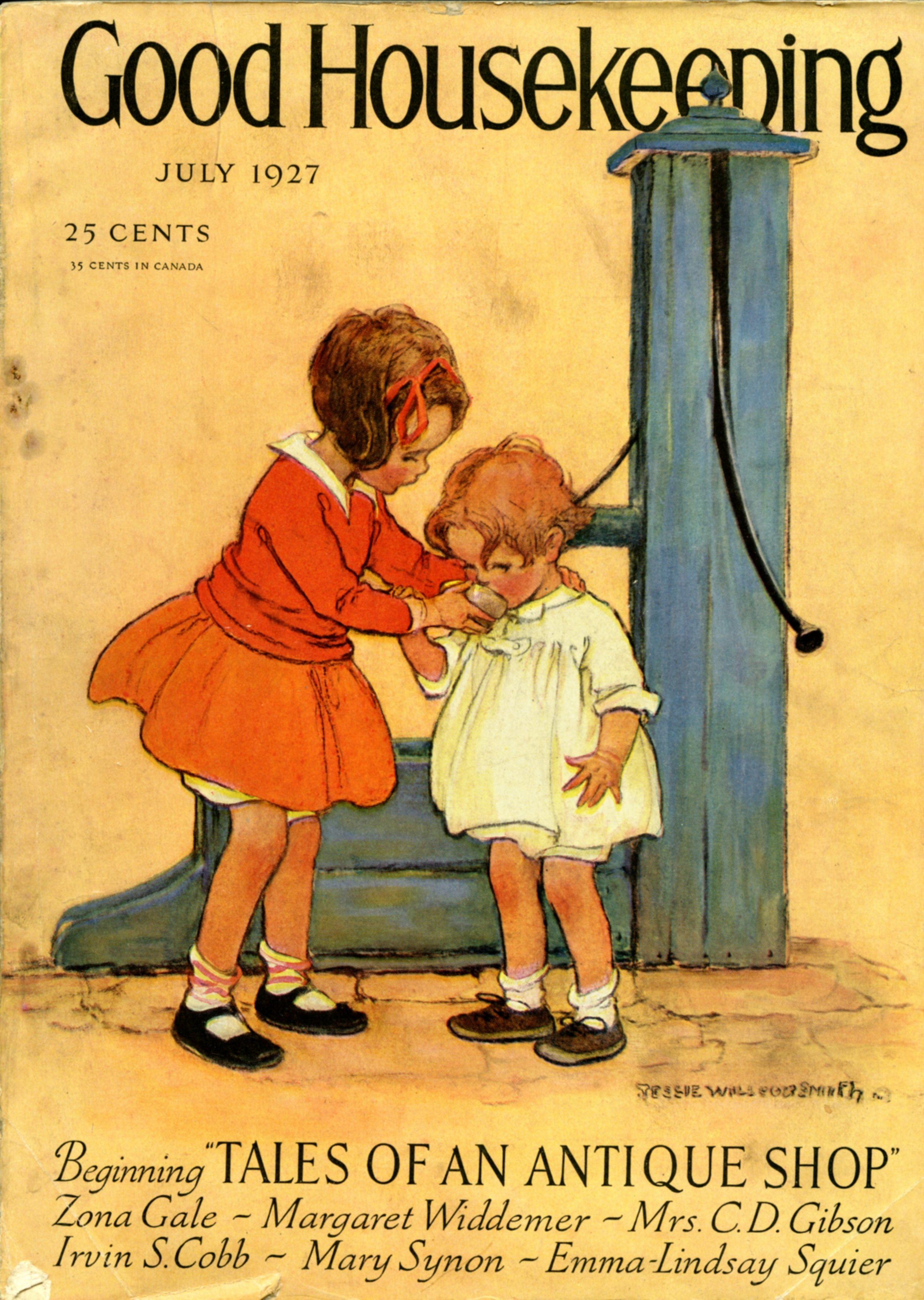 Jessie Wilcox Smith, cover for  Good Housekeeping Magazine.  July 1927.