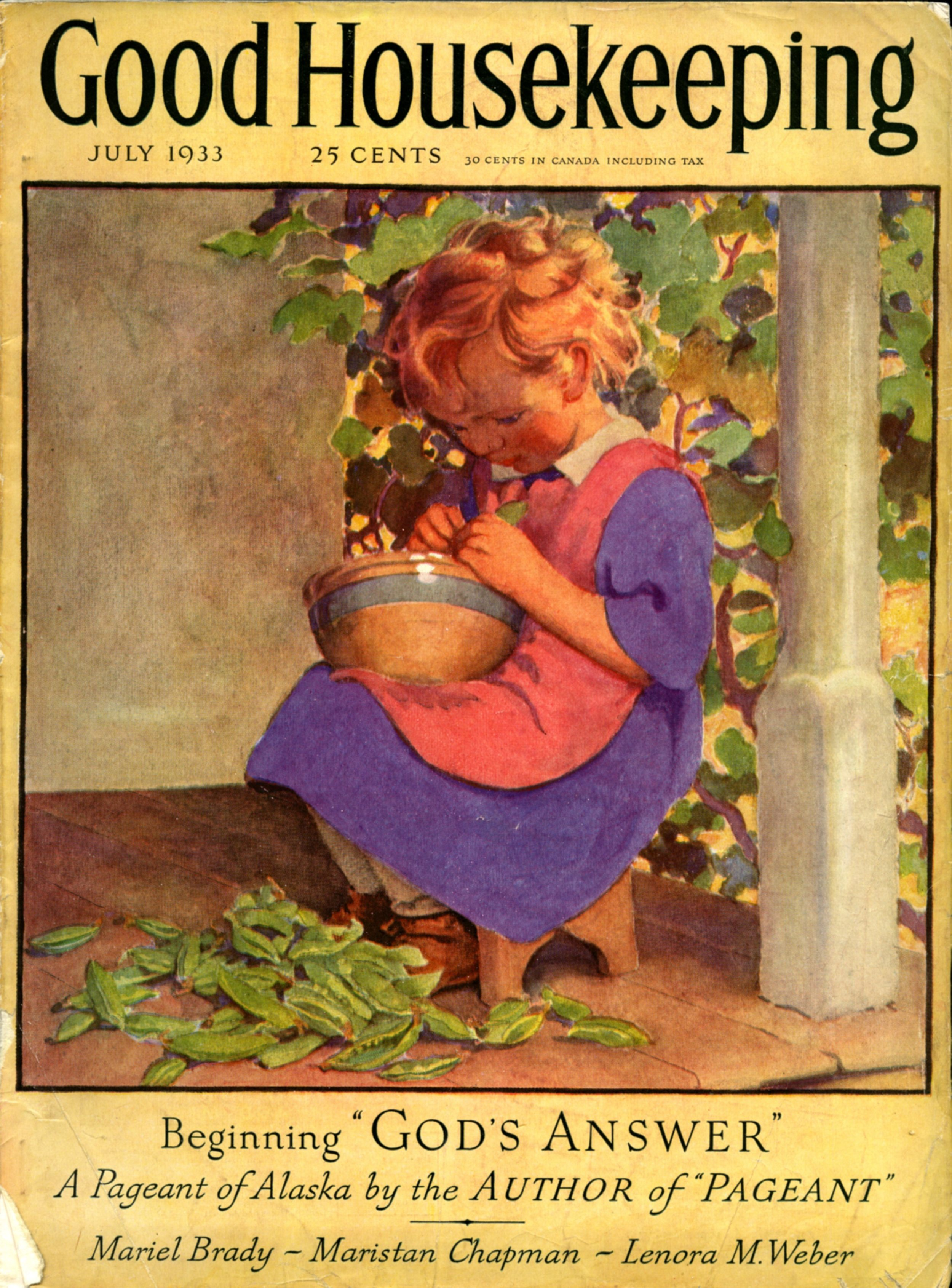 Jessie Wilcox Smith, cover for  Good Housekeeping Magazine.  December 1933.