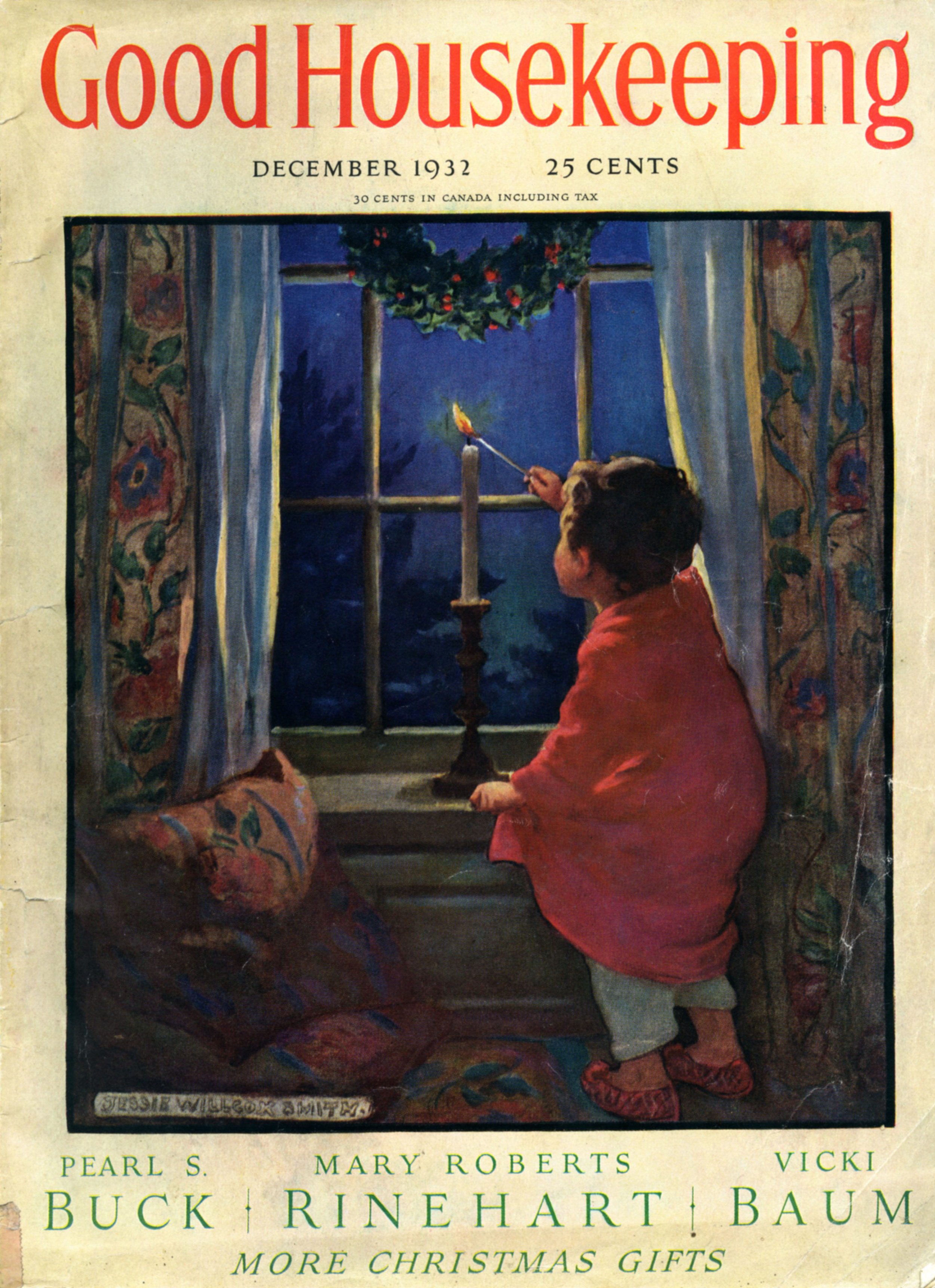 Jessie Wilcox Smith, cover for  Good Housekeeping Magazine.  December 1932.