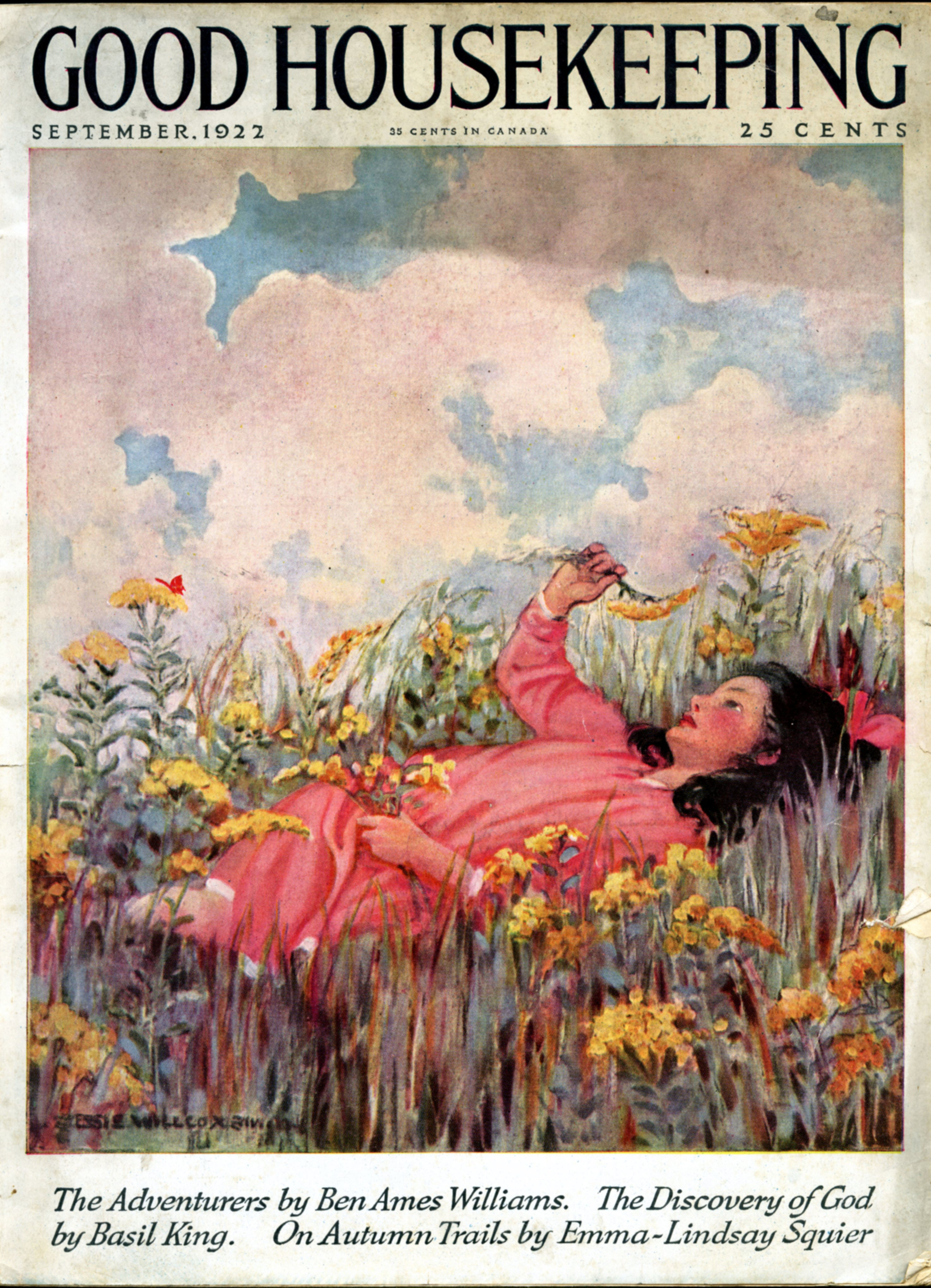 Jessie Wilcox Smith, cover for  Good Housekeeping Magazine.  September 1922.