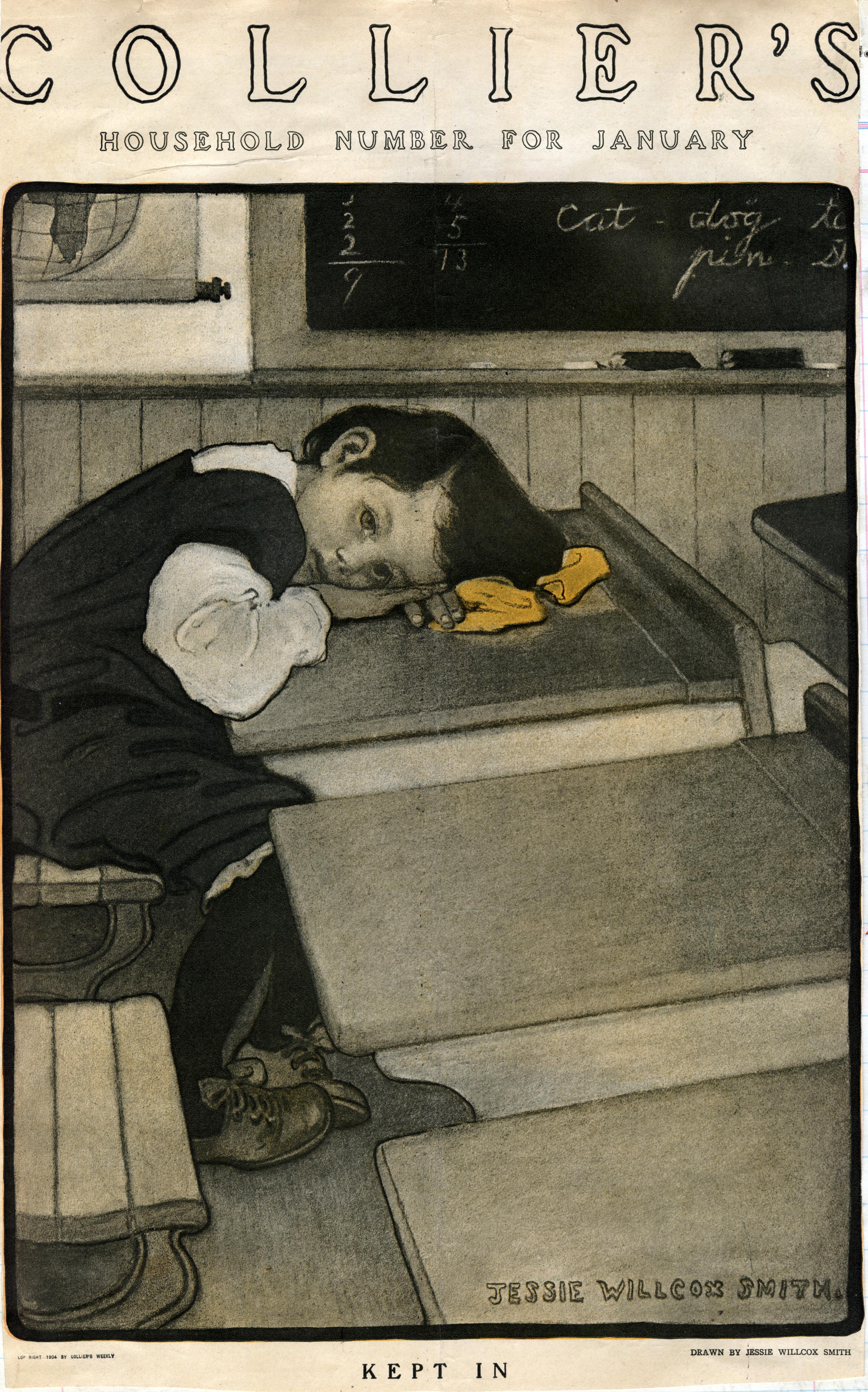 Jessie Wilcox Smith, cover for  Collier's Magazine.  January 1904.