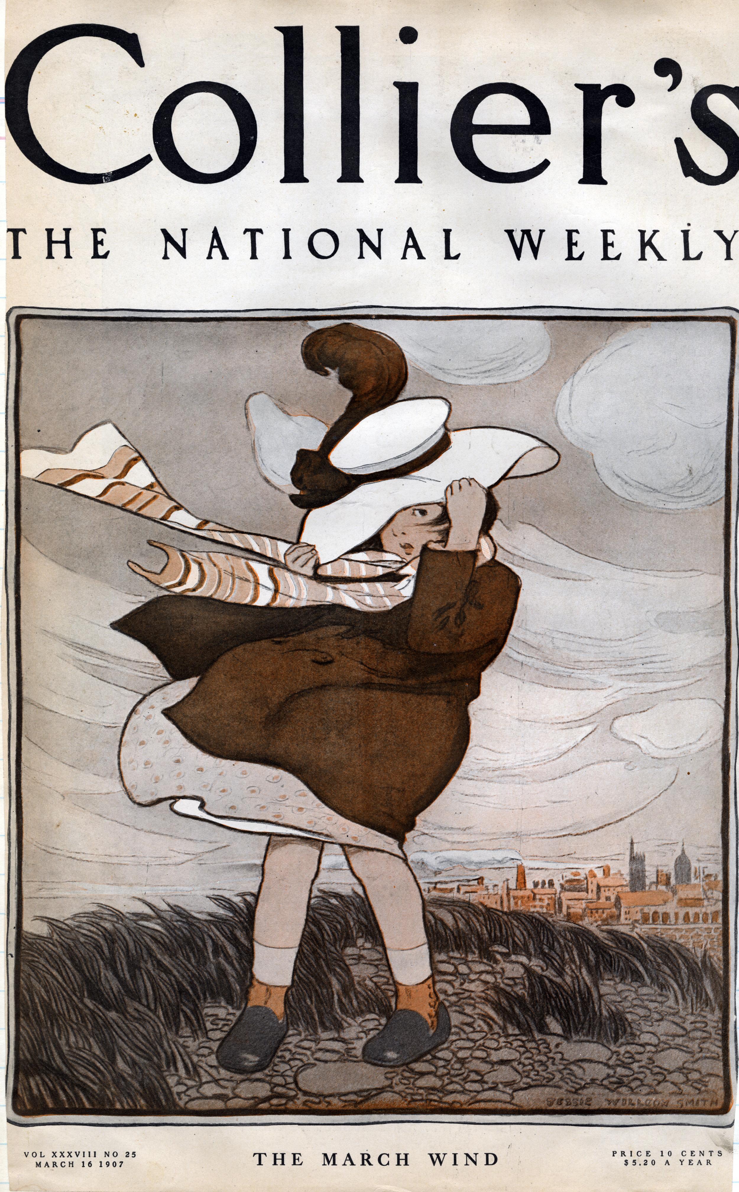 Jessie Wilcox Smith, cover for  Collier's Magazine.  March 16, 1907.