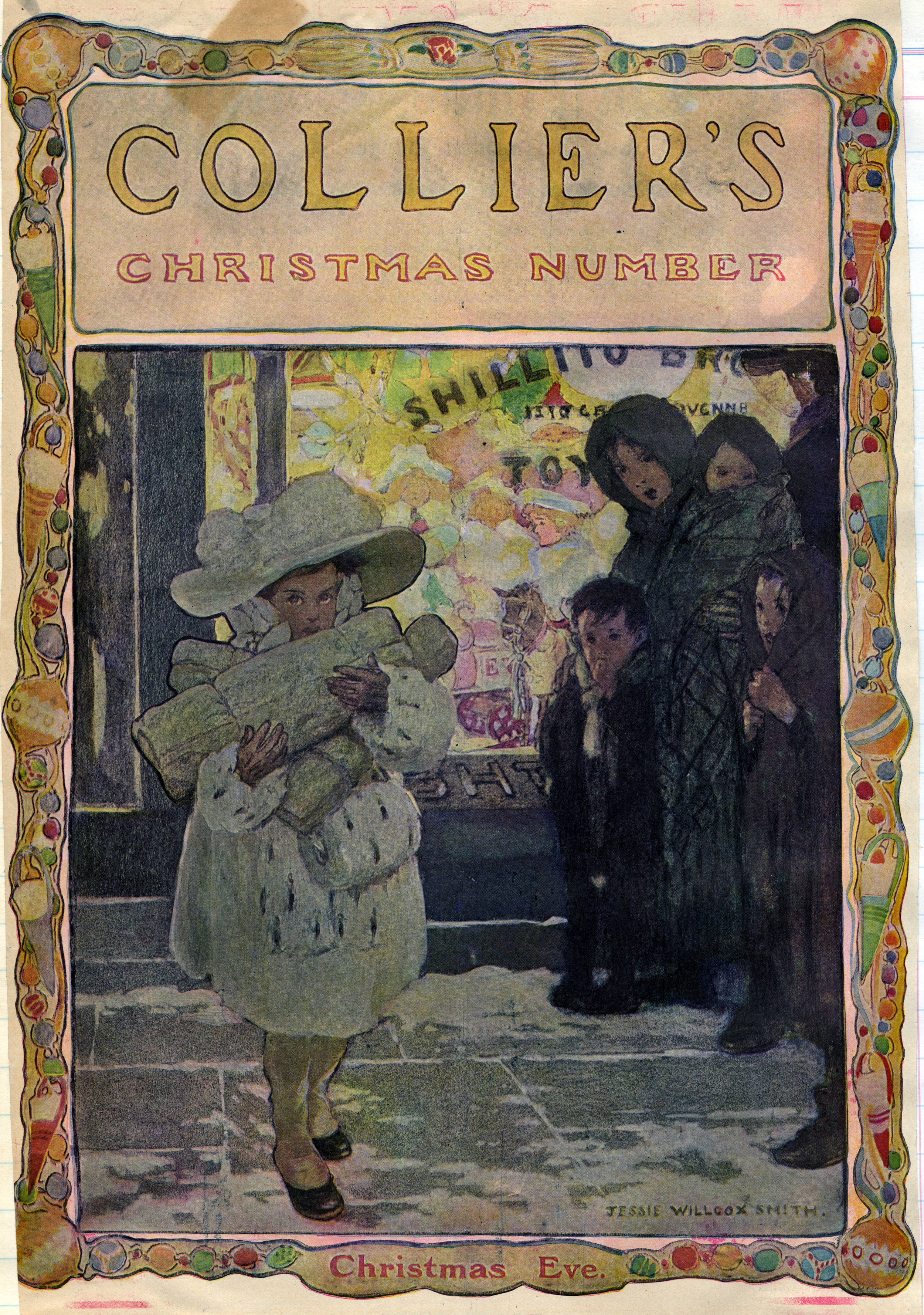 Jessie Wilcox Smith, cover for the Christmas edition of  Collier's Magazine . 1912.
