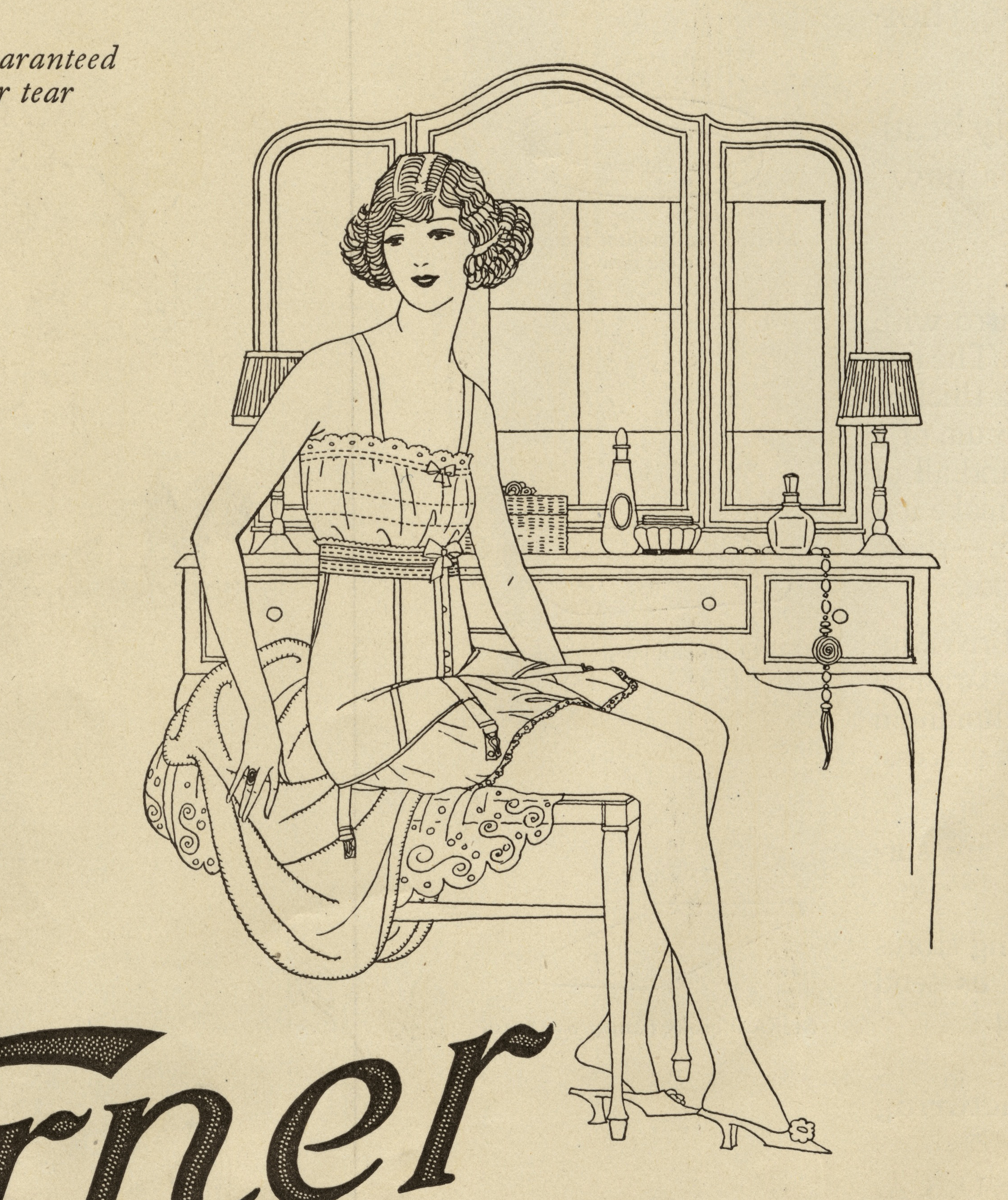 The Reeses (Emily Shaw and Walter O.),  Detail, Warner Corsets Advertisement , Ladies Home Journal, October 1922. From the Walt Reed Archive, MGHL.