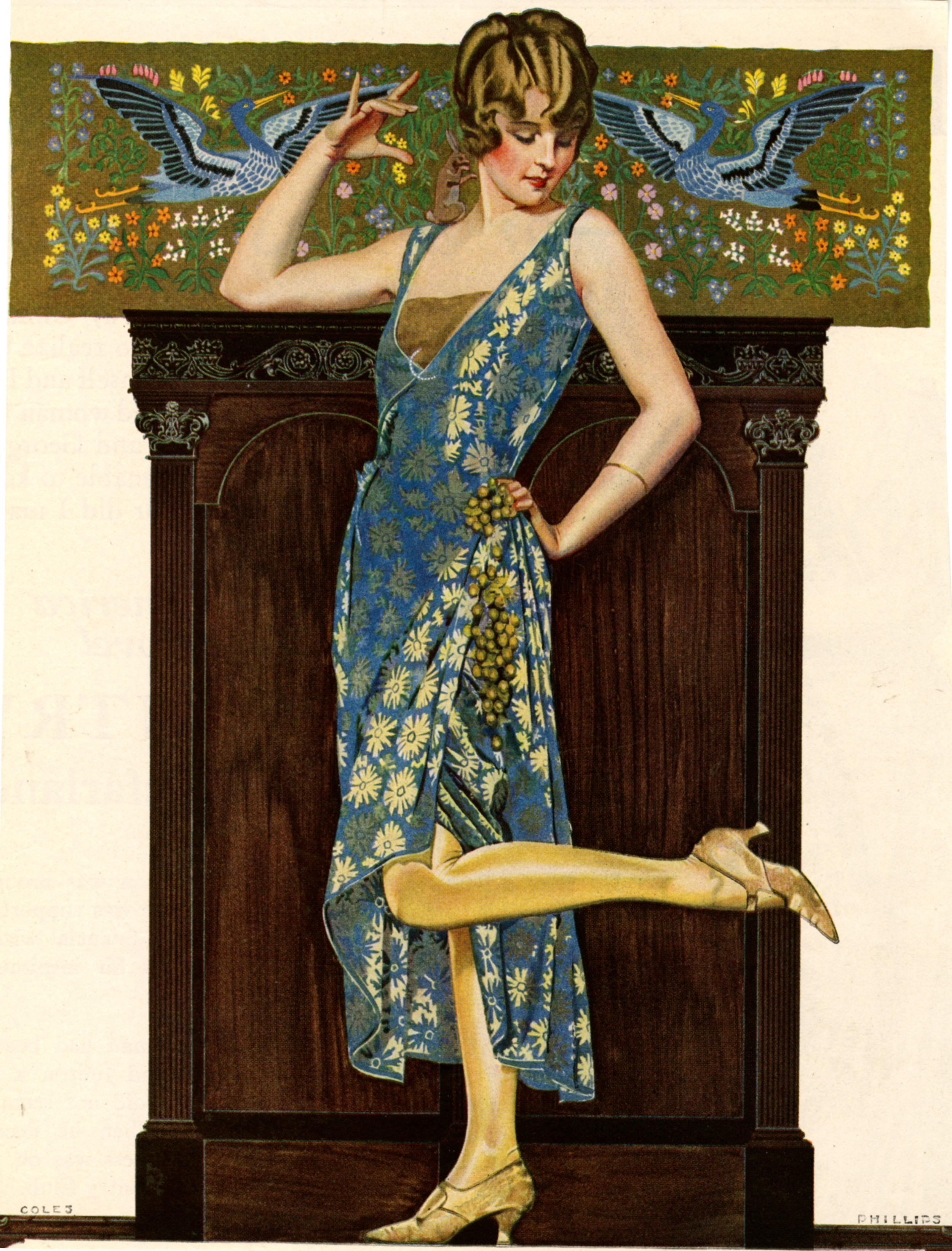 Coles Phillips,  Magazine advertisement for Holeproof Hosiery , 1923.
