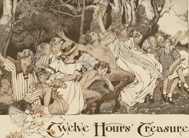 "Clara Elsene Peck, detail of illustration for ""Twelve Hours' Treasure"". Written by Phyllis Wyatt Brown. The Delineator,December 1914."