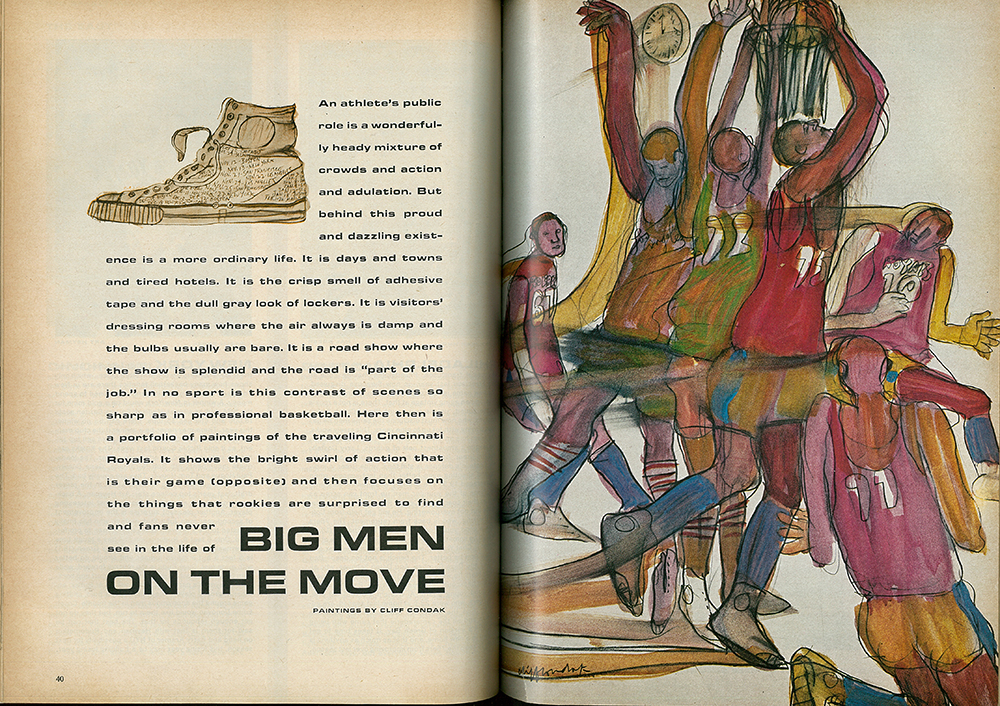 "Cliff Condak, ""Big Men on the Move,""  Sports Illustrated , October 28, 1963."
