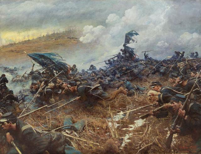 Howard Pyle,  The Battle of Nashville , 1906. Minnesota Statehouse, Saint Paul, Minnesota.