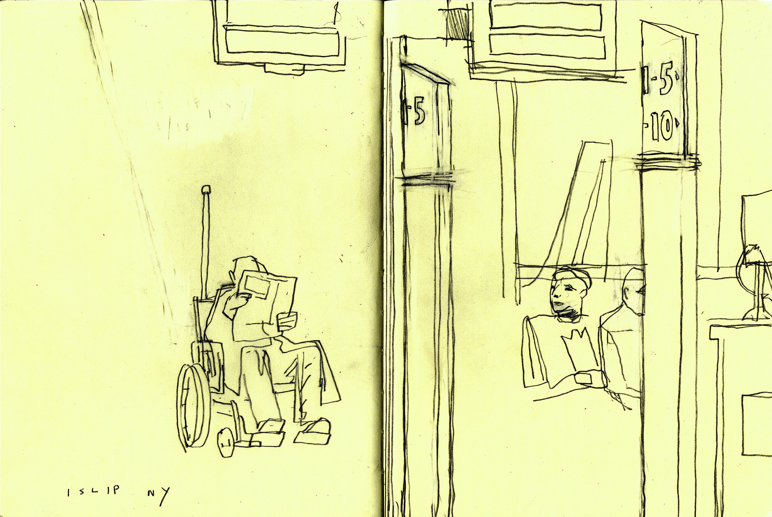 D.B. Dowd, Airport,Islip, NY.2011.Sketchbook drawing.