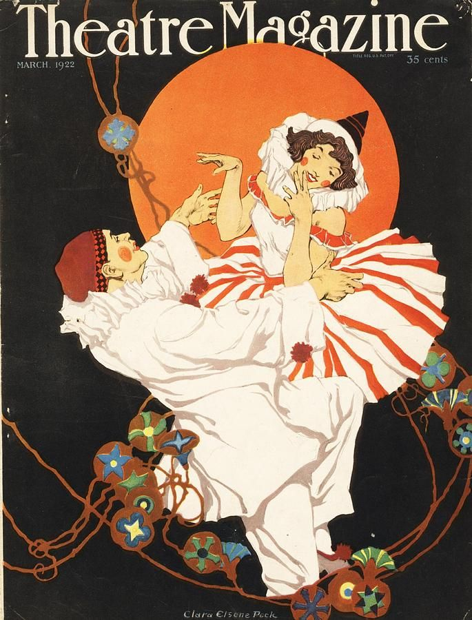 Clara Elsene Peck, cover illustration  Theatre Magazine , March 1922.