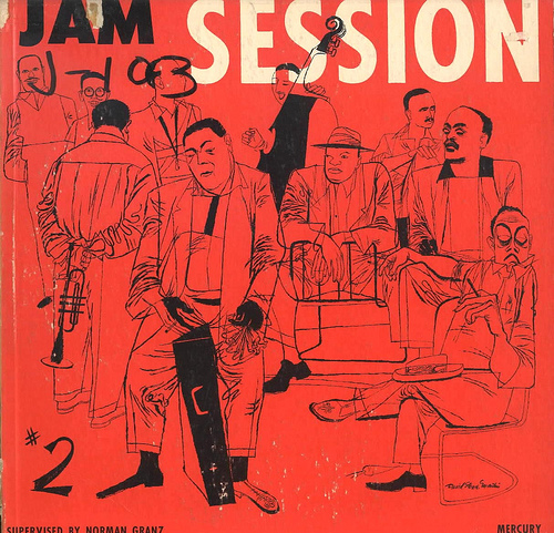 David Stone Martin,  Jam Session , illustration for record jacket, Mercury Records, circa 1960.