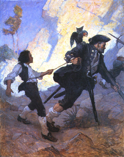 N.C. Wyeth,  The Hostage , from Charles Scribner's Sons Edition of  Treasure Island , by Robert Louis Stevenson. 1911.