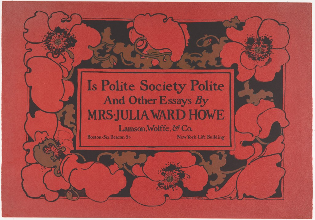 Ethel Reed,  Is Polite Society Polite? , poster design for Lamsom, Wolffe & Company, Boston. 1895. Lithograph.