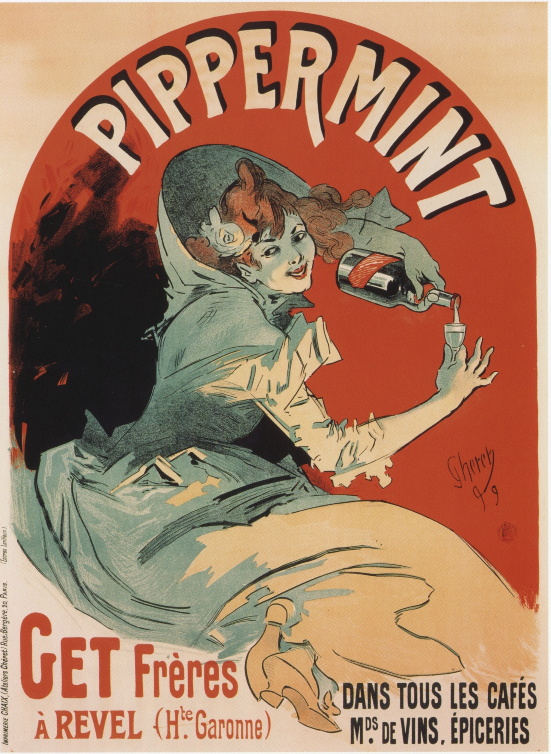 Jules Chéret,  Pippermint , advertising poster, 1899.