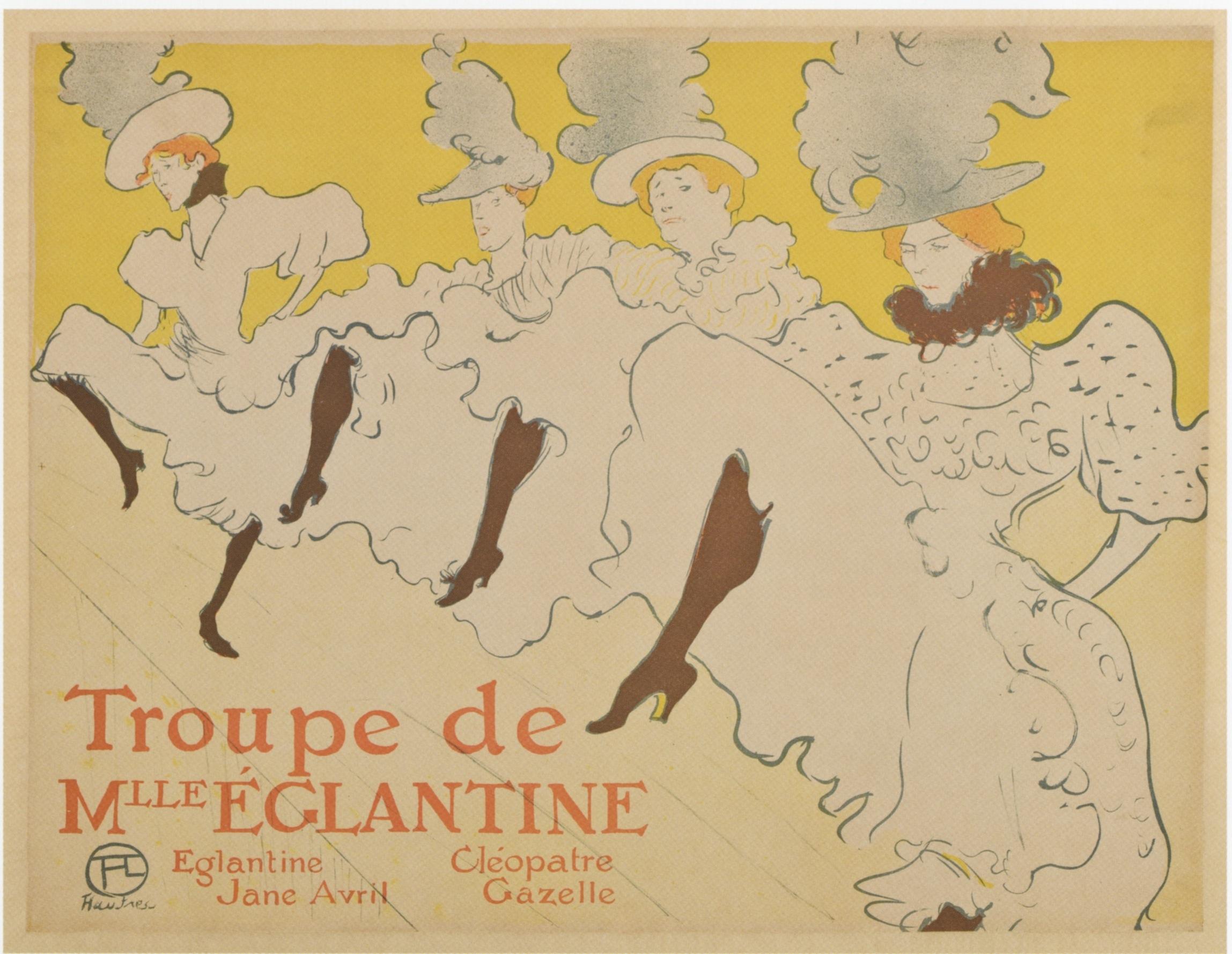 Henri de Toulouse-Lautrec,  La Troupe de Mademoiselle Eglantine , poster advertisement for dance performance, 1895.