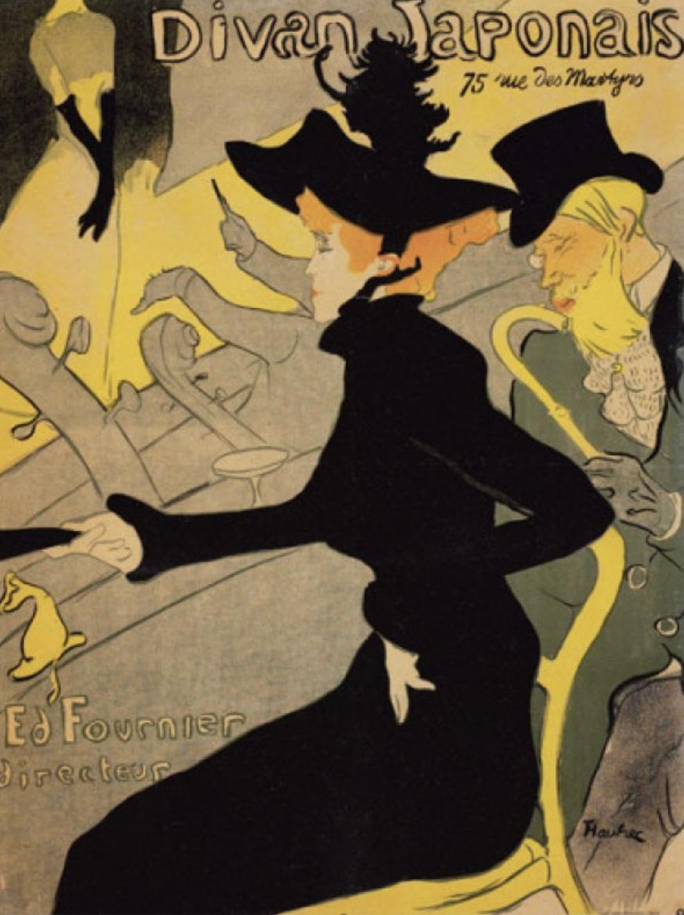 Henri de Toulouse-Lautrec,  Divan Japonais , poster advertisement, 1893. Lithograph.