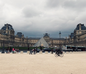 Passing by the Louvre, right on the other side of the Tuileries.