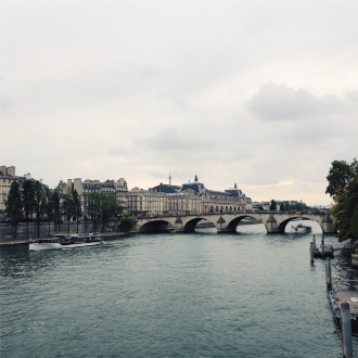 Crossing over the Seine. How could this ever get old?