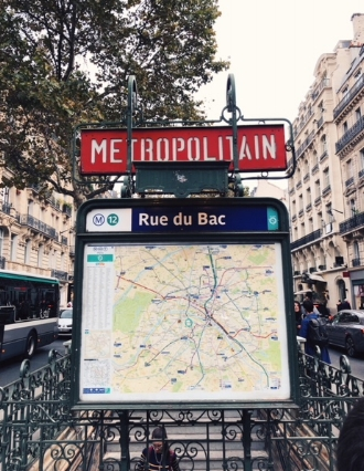 Even the street maps and metro signs are pretty in Paris.