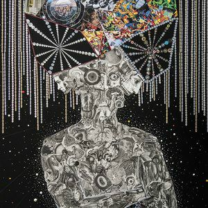 David Crunelle  Mixed Media on Paper   Starting at $1,000