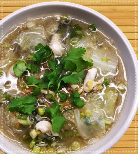 Glass Nooble soup