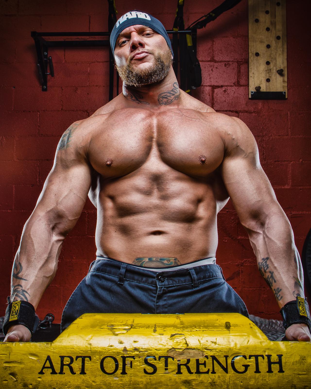 Go Hard Body Builder Wesley Steel