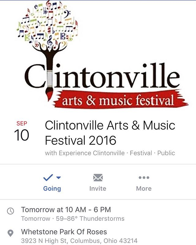 Looking for something to do tomorrow, be sure to stop by our booth inside the Whetstone Rec Centers gym from 10am-6pm. #clintonvilleartandmusicfest #cville #clintonville #art #music #allnatural #ambiguousyou #experienceclintonville #experiencecolumbus #vegan #glutenfree #mineralmakeup #cosmetics