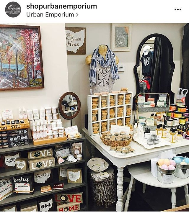 Stop by @shopurbanemporium this weekend and check out their new store layout! Same great store whole new look! #shopurbaremporium #urbanemporium #bexley #columbushandmade #ambiguousyou #allnatural #vegan #glutenfree #bathandbeauty #columbushandmade