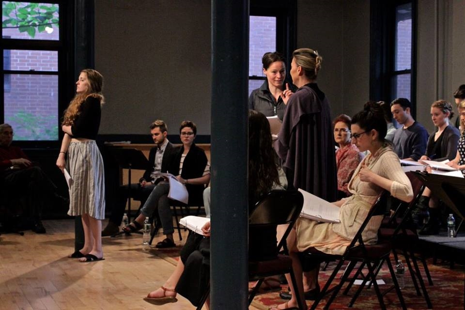 Britian playing Young Sala in the May reading of Arlene Hutton's LETTERS TO SALA @ New Dramatists.