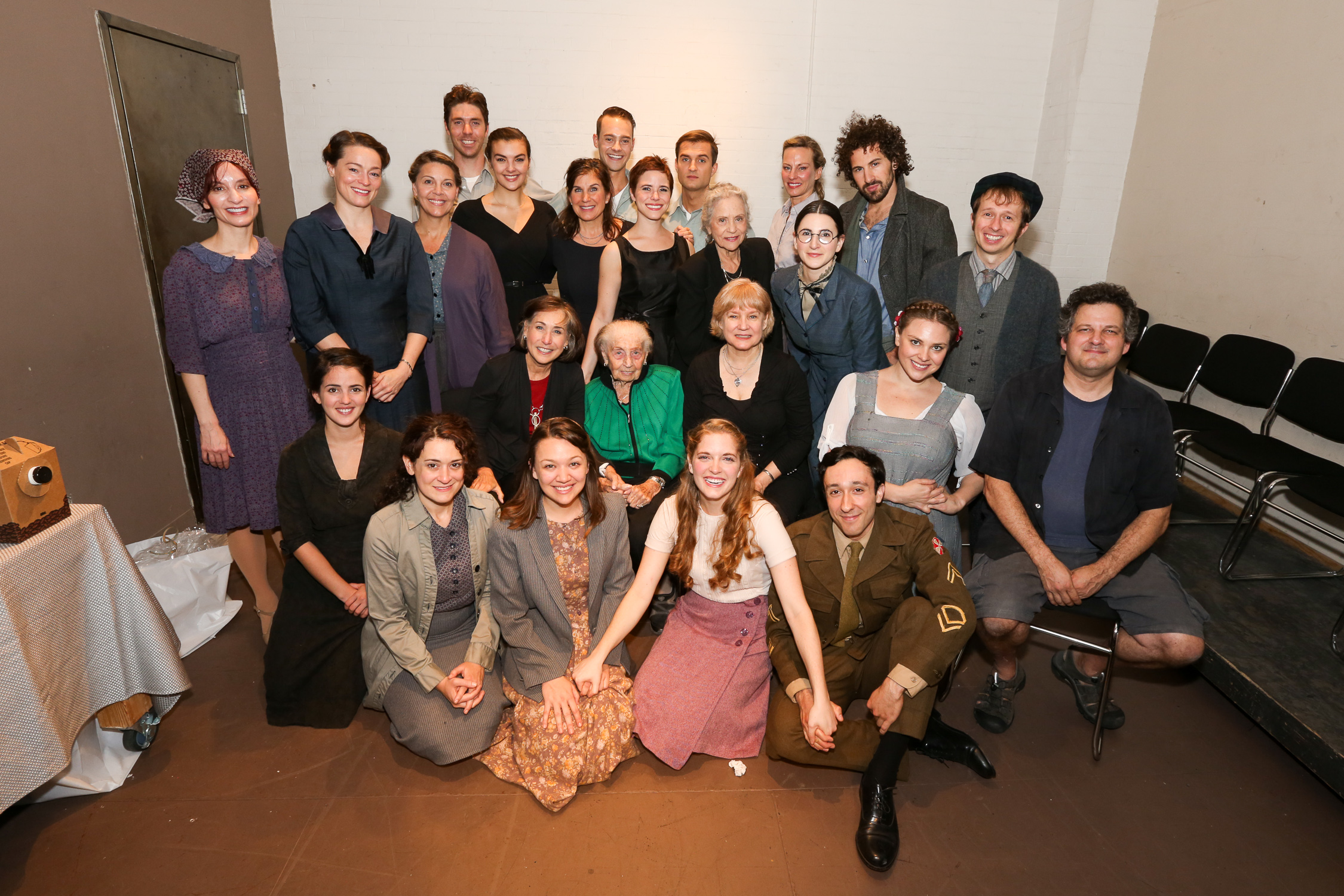 The cast of  LETTERS TO SALA , with Sala Garncarz Kirschner.