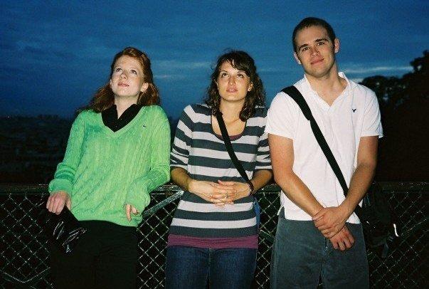Stephanie Emens, myself, and Barclay Owens regard La Basillique duSacré-Cœur. (Photo by Perry Guevara)