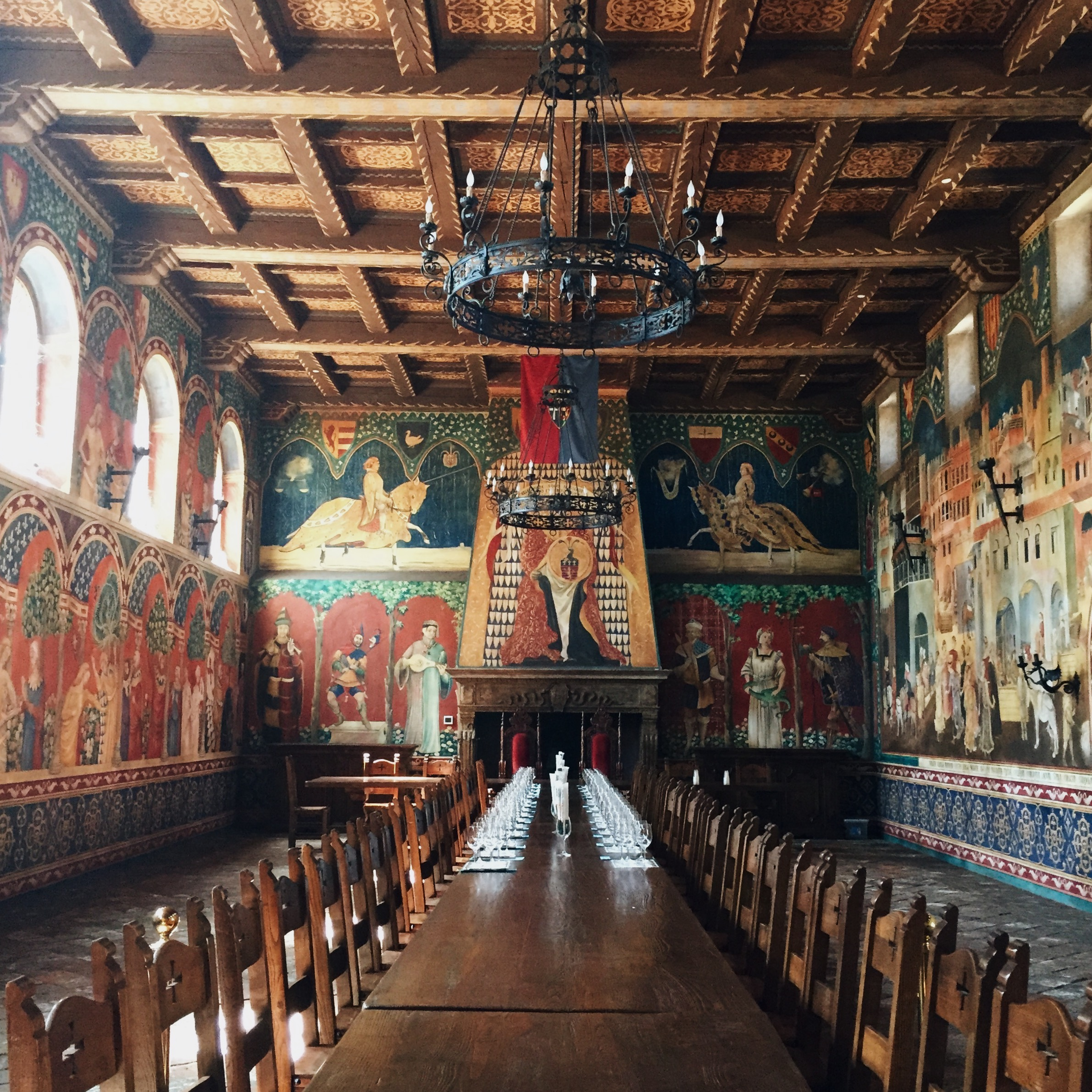 Grand Room. Castello di Amorosa. Napa Valley.