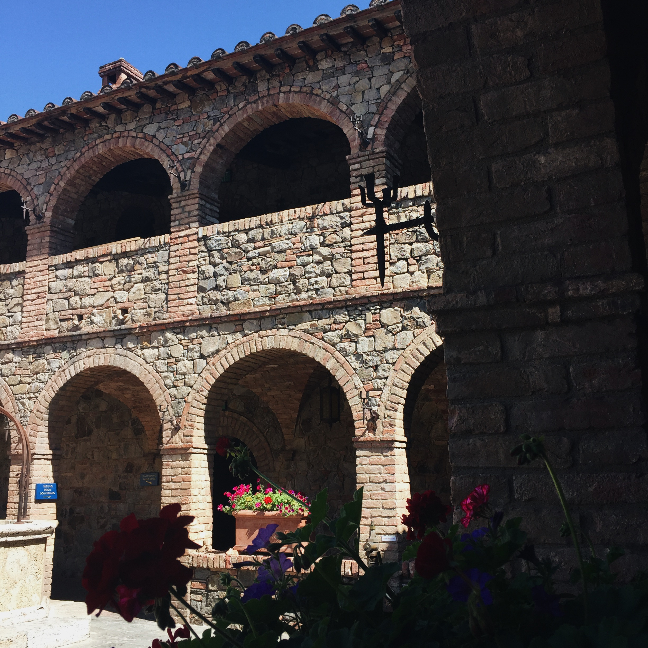 Archways. Castello Di Amorosa. Napa Valley.