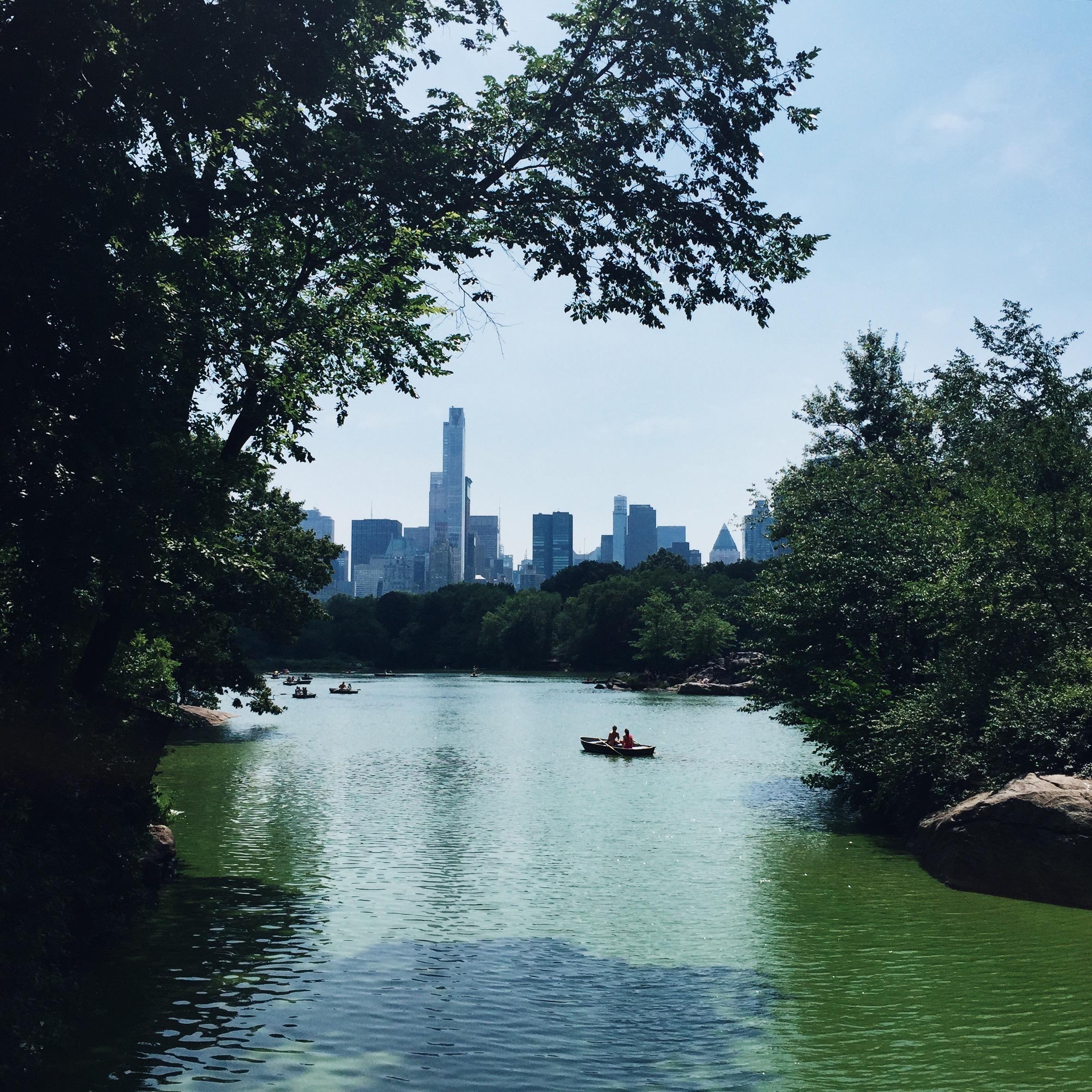 Kayaking in Central Park