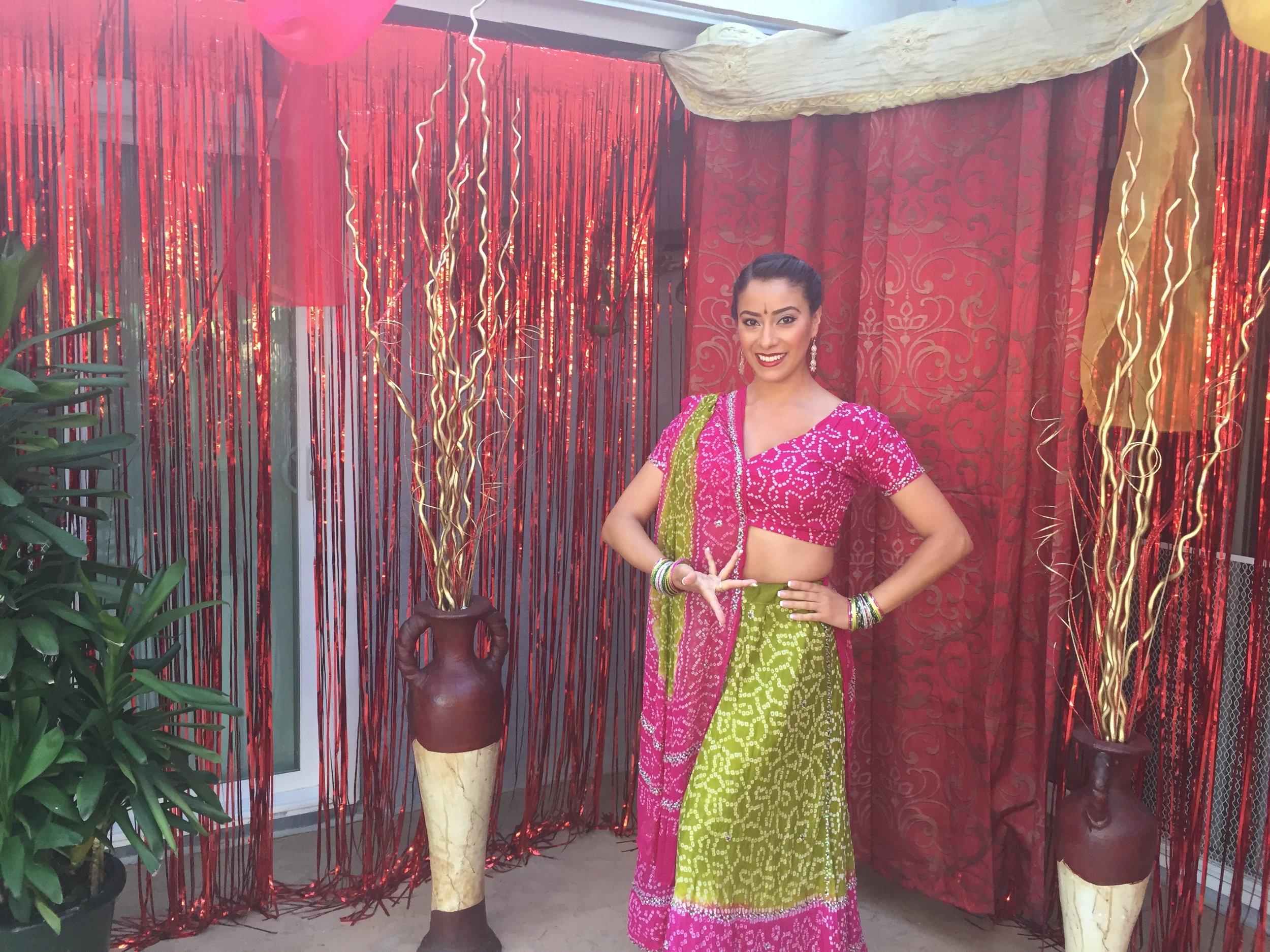 Bollywood pose at house party.JPG