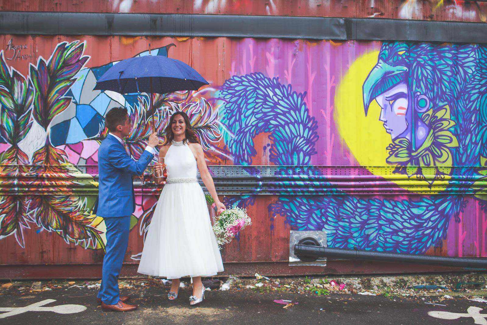 Quirky Venue, Non-traditional wedding planner, London Wedding coordination, Bespoke weddings, Brixton East 1871 Wedding, informal, Stylish wedding, Warehouse wedding, Dry hire venue