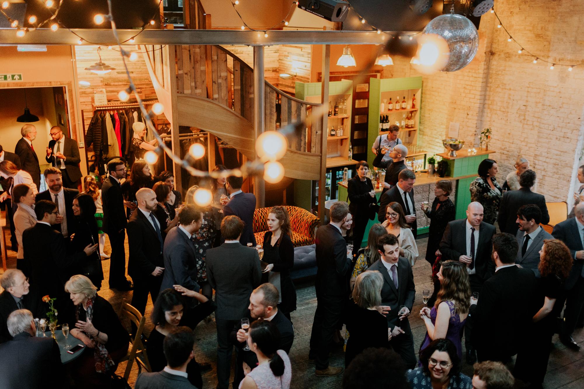 Quirky Venue, Non-traditional wedding planner, London Wedding coordination, Event Bar, Bespoke weddings, Event team, Brixton East 1871 Wedding, Streetfood wedding, informal, Stylish, Worm London