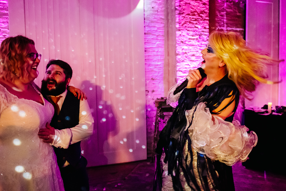 London Wedding, Wedding Planing, Non-traditional wedding, Unconventional, Brixton East wedding, Dita Rosted Events, Kristian Leven Photography, Drag Queen DJ,