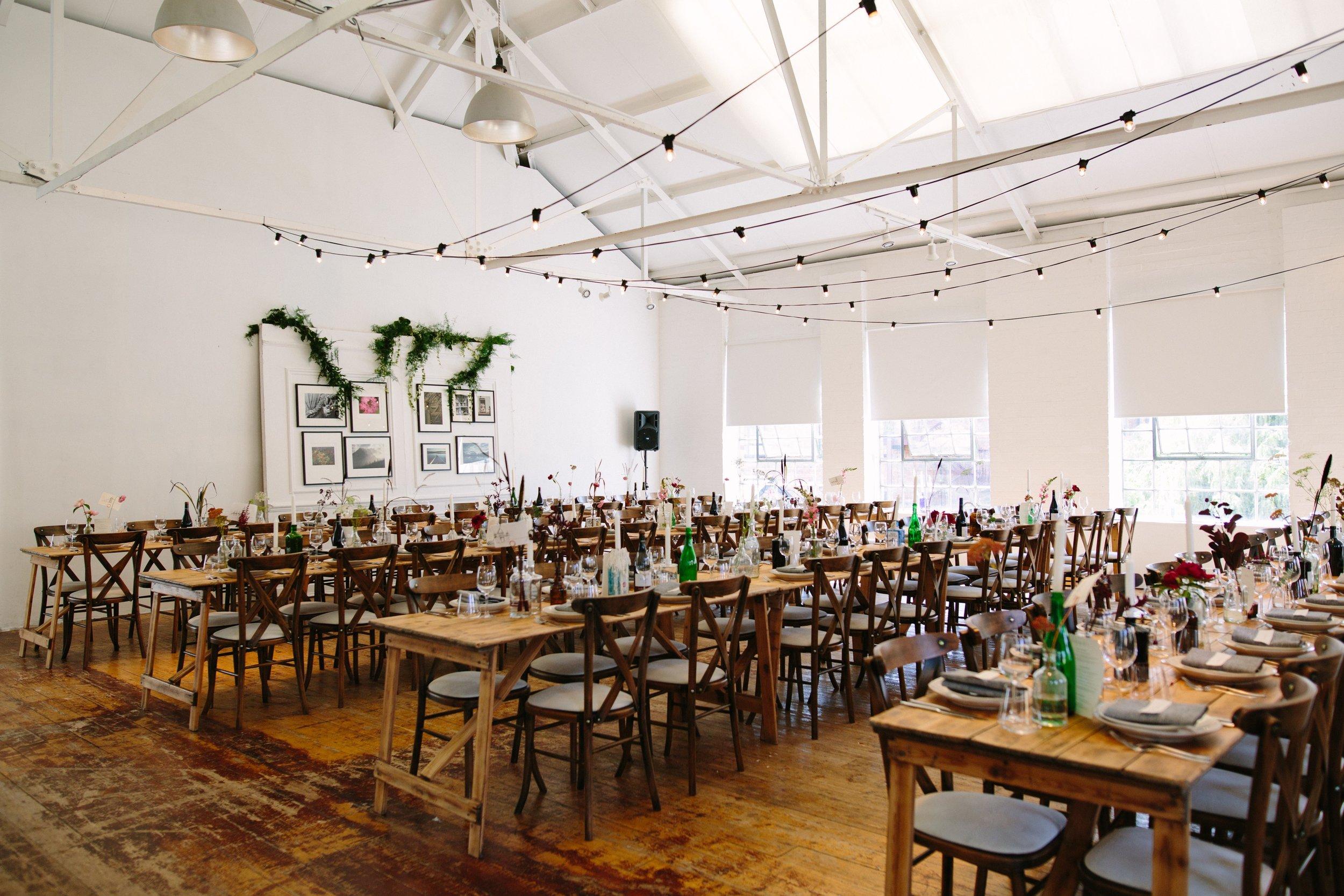Warehouse Wedding Venue, Non-traditional wedding planner, London Wedding coordination, Event Bar, Bespoke weddings, Shoreditch Wedding, informal, Stylish, Event Planning, Dita Rosted Events