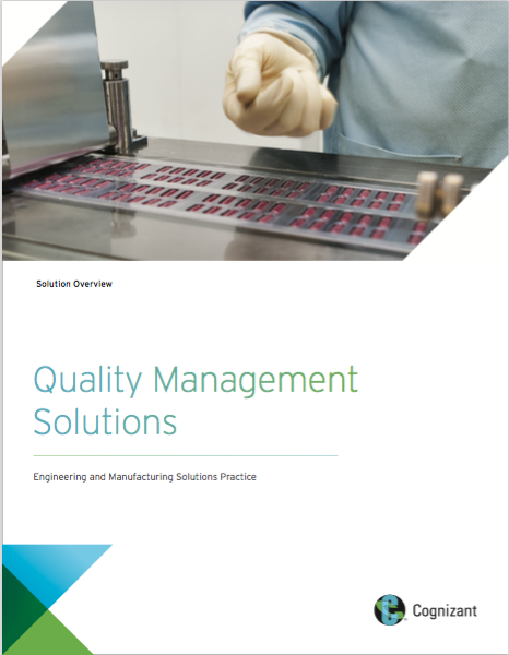 Customer Brochure:  Quality Management Solutions