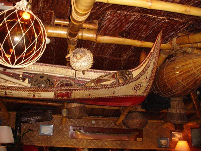 Trader Vic's interior roof