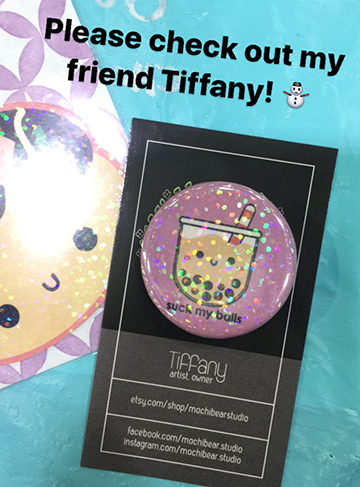 Tiffany's amazing wonderfully accurate pin. <3   Etsy .  Instagram.