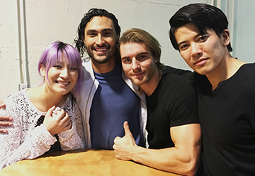 The honor of being surrounded by favorite voice actors and good looking men. *sweats* The honor was all mine. <3  Jonny Cruz (Lucio, Overwatch), Christian Howard (Ken Masters), and Gaku Space (Genji, Overwatch)