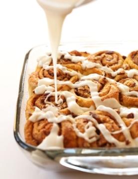 Vegan Pumpkin Cinnamon Rolls (YUM) by  Minimalist Baker