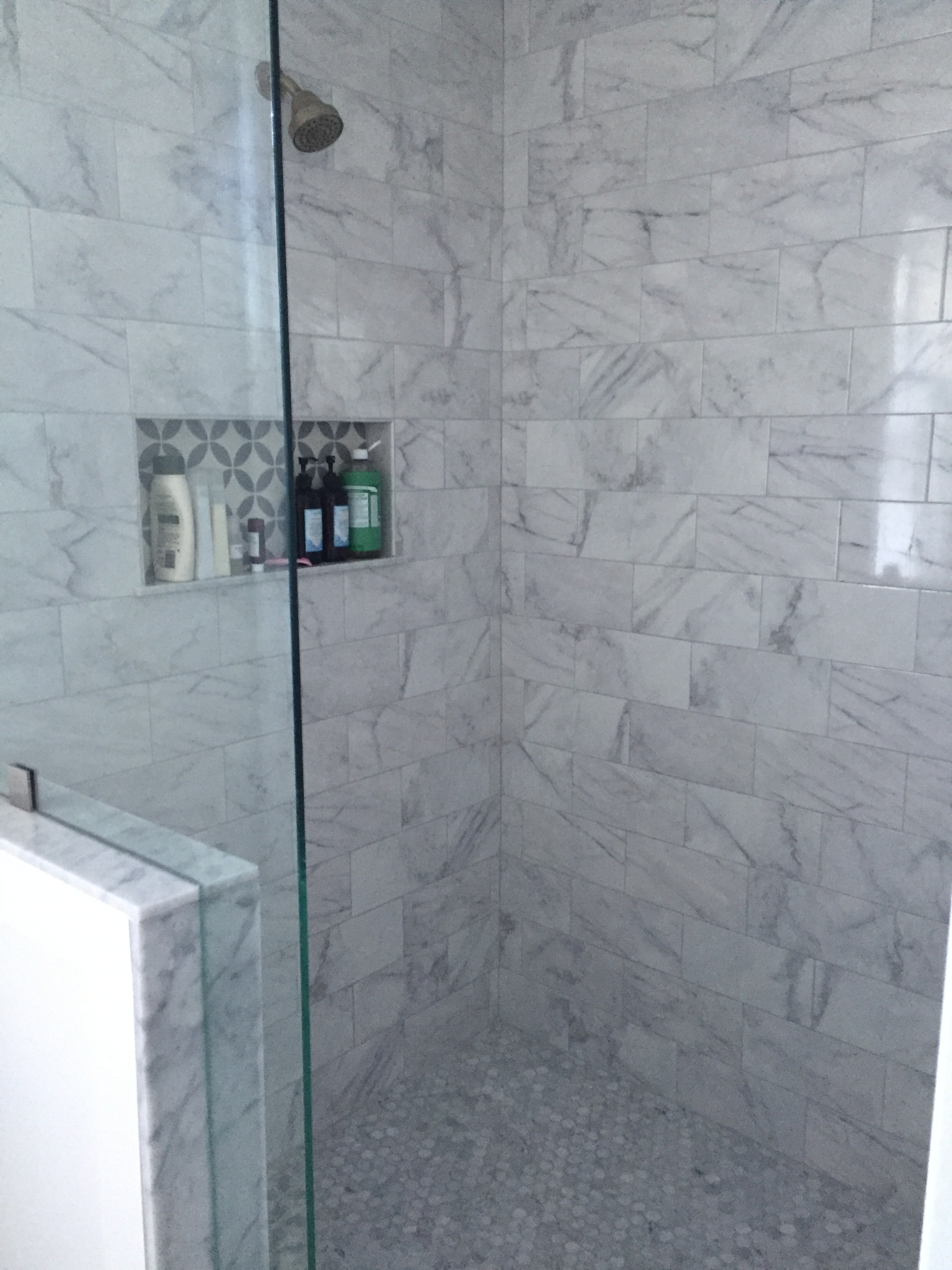 The before-and-after photos of our bathroom renovation