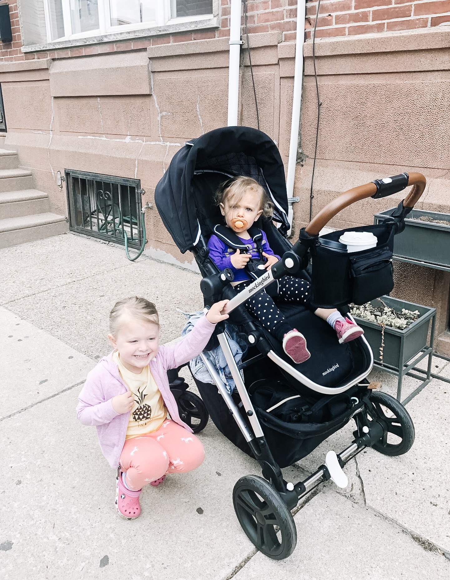 Our new favorite stroller, Mockingbird. It's cute, city friendly, and inexpensive.