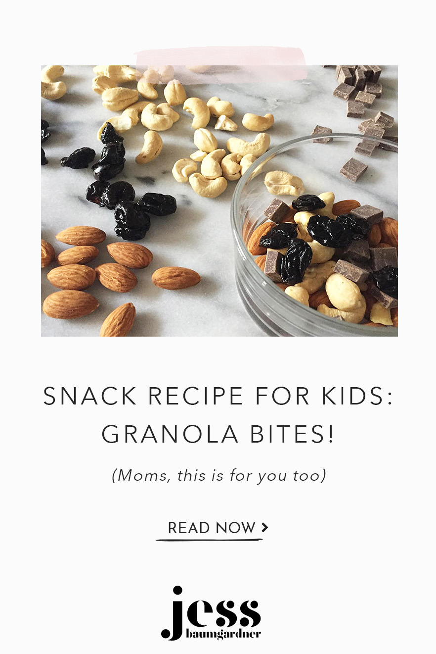 I love a good crunch. Like mother, like daughter - my girls love that crunch as much as I do. These granola bites are my favorite, simple snack for my kids and I.