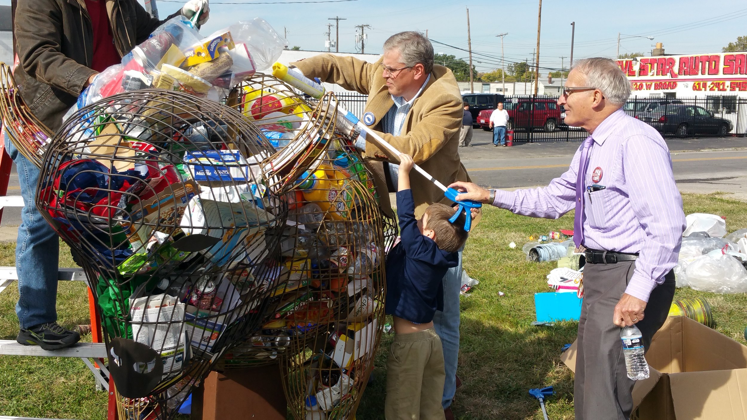 The Cleanup - Create more engagement at your cleanup events with a sculpture that is fun for all ages to fill with the trash they collected.